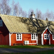 A 1800's Village Where you Live in the Middle of the Forest Among Rådjur and Älgar