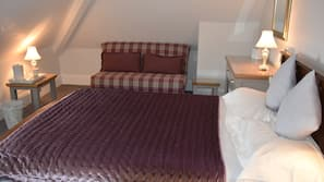 Iron/ironing board, free cots/infant beds, free WiFi