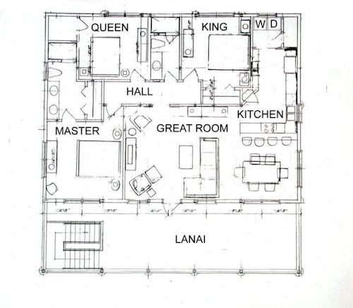 Floor plan, Luxury Oceanfront Home, Gorgeous View