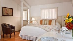 Premium bedding, desk, free WiFi, bed sheets