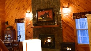 TV, fireplace, Netflix, streaming services