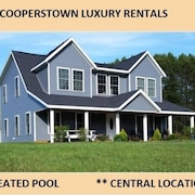 5 Bedroom Home With Heated Pool Just 4 Miles From Cooperstown and Dream's Park
