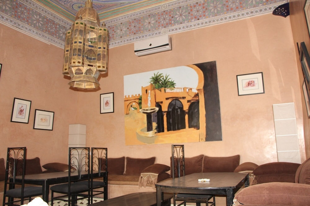 Living Room, Traditional riad, house staff, the art of living of Morocco.