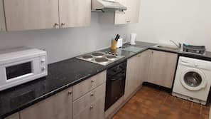 Microwave, oven, stovetop, dishwasher