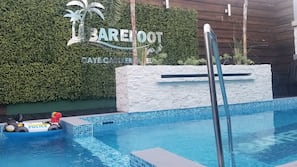 Outdoor pool, open 8:00 AM to 6:00 PM, sun loungers
