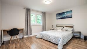5 bedrooms, premium bedding, blackout drapes, free WiFi