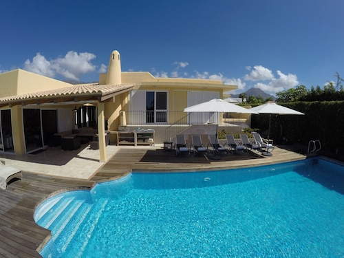 Luxury Villa Costa Adeje Golf Stor Privat Opvarmet Swimmingpool Havudsigt nær Stranden