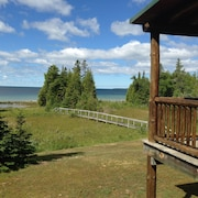 Private 4 Acre Home on Lake Michigan Minutes From Action In Downtown St. Ignace