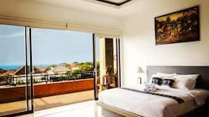 4 bedrooms, premium bedding, Tempur-Pedic beds, individually decorated