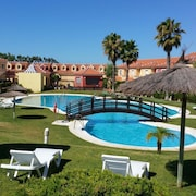 Apartment With 2 Bedrooms in Islantilla, With Wonderful Mountain View, Pool Access and Terrace - 700 m From the Beach