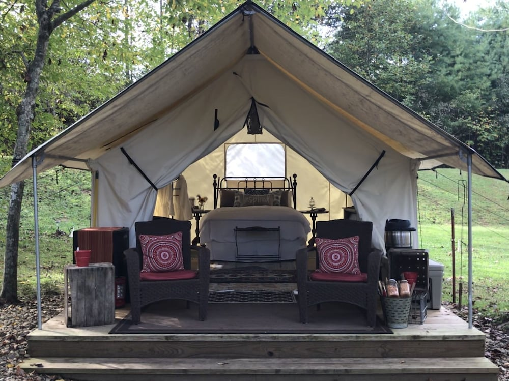 Smoky Mountain Glamping - Luxury Canvas Tent Camping in