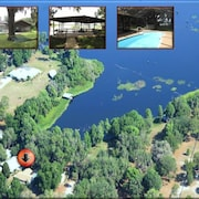 Paradise Found! - Lakefront Home - Heated Pool, Dock, Canoe, Kayaks & Fire Pit!