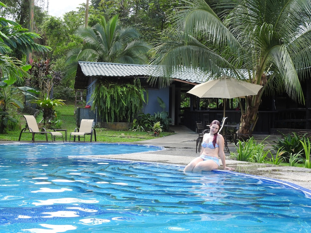Pool, Tropical Rainforest Mountain House Near Volcano Arenal. Private and Safe