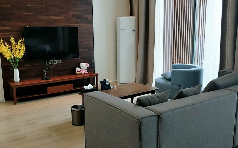 Living Room, Poltton International Service Apartment