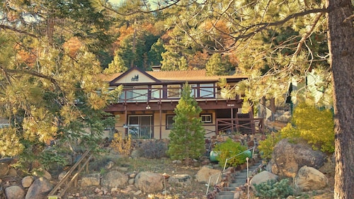 Big Bear's Most Unique Location! Amazing View, Wood Fireplace, Backs To Mountain