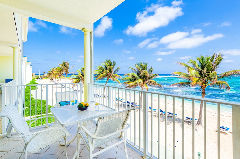 Balcony, Magnificent Ocean Views- 2 Bedroom Beachfront Condo at The Reef Resort?