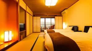 Premium bedding, down comforters, in-room safe