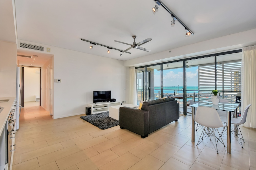 Living Area, Accommodation at Darwin Waterfront