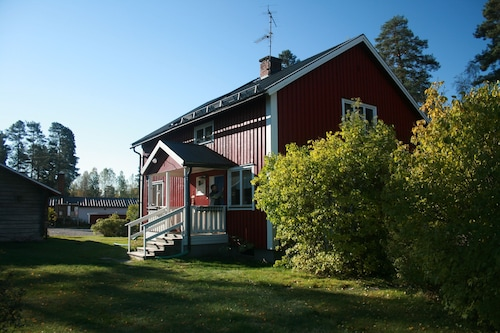 Traditional Swedish Forest Cottages by a Lake on Varmland-dalarna Border Sauna