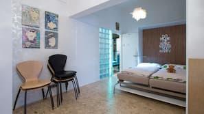 2 slaapkamers, een strijkplank/strijkijzer, internet, beddengoed