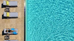 Outdoor pool, open 6:00 AM to 10:30 PM, pool umbrellas, pool loungers