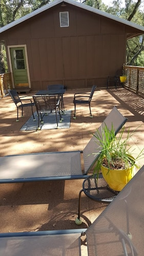 Balcony, Suwannee River Oasis! Waterfront Cabin in Paradise White Springs, Florida