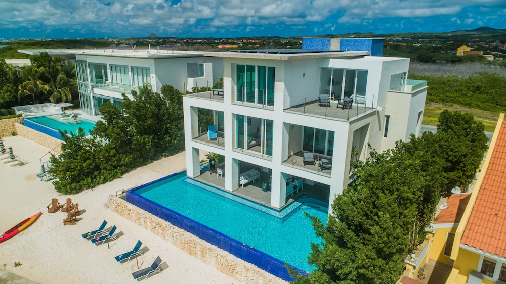 Exterior, 7 Bed/6 Bath Beachfront Villa With Infinity Pool Overlooking The Caribbean