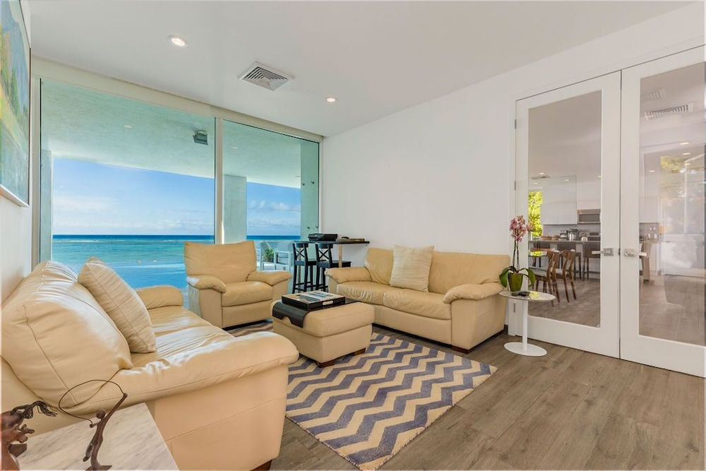 Living Room, 7 Bed/6 Bath Beachfront Villa With Infinity Pool Overlooking The Caribbean