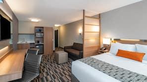 Egyptian cotton sheets, premium bedding, pillowtop beds, desk