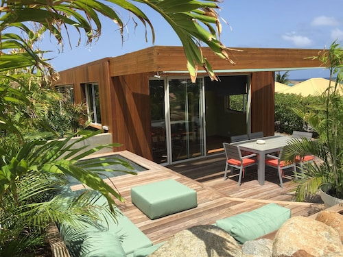 Sea View Lodge Nestled in a Small Tropical Garden With Small Pool