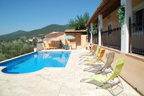 Villa With 3 Bedrooms in Callas, With Wonderful Mountain View, Private Pool, Furnished Garden