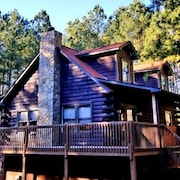 Free Nitew/3apr 3 Story Mtn log Cabin. Lake/beach /river Private/waterfall- Dogs