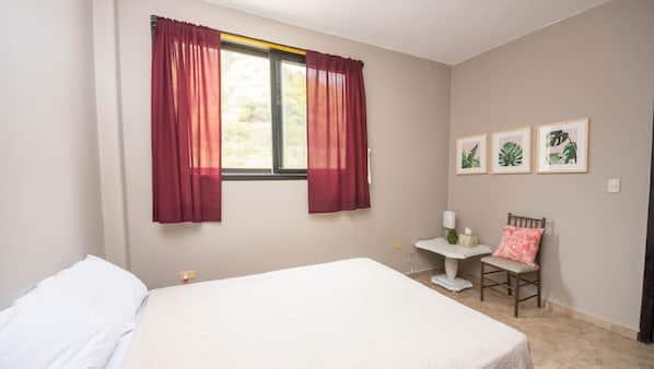 2 dormitorios, conexión a Internet, ropa de cama