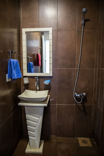 Bathroom, One Bedroom Seafront Chalet at Gondola Marine Resort & Furnished Apartments