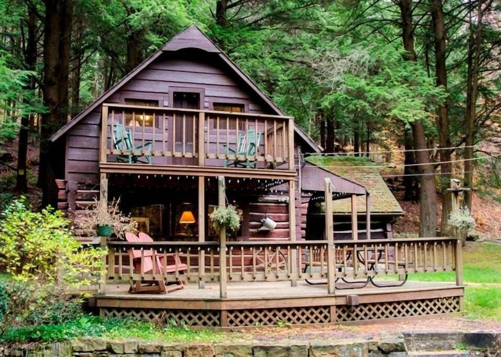 Exterior, Stream Side Log Cabin Perfect for Cherry Springs