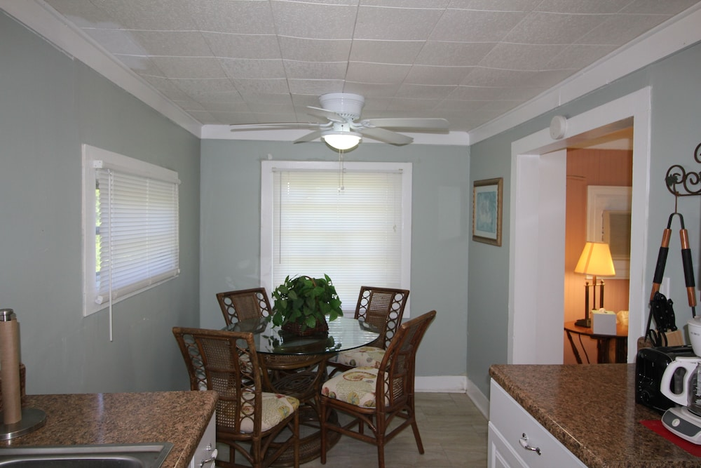 Private Kitchen, Fishing Cottage With 250 ft Dock and Boat Slip 2 Miles to the Atlantic Ocean