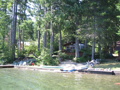 Check Expedia for Availability of Lake Cushman Waterfront Paradise! NO Bank! Majestic Views, Hiking, Boating!