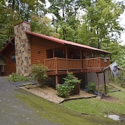 2 Bedroom / 1 1/2 Bath Cabin / Hot Tub / Large Whirlpool / Gas Fireplace