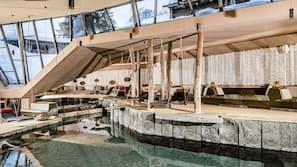 2 piscine coperte, piscina stagionale all'aperto