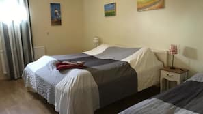 Blackout drapes, free cribs/infant beds, free WiFi, bed sheets