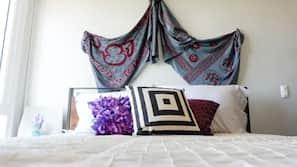Frette Italian sheets, premium bedding, free WiFi, linens