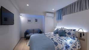 1 bedroom, premium bedding, down duvets, desk