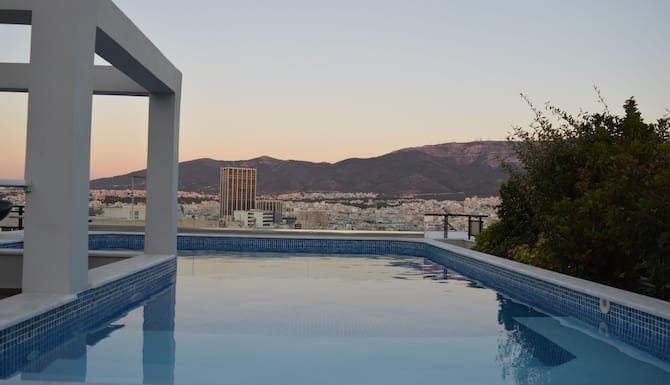 Athens Lycabettus Hill Penthouse Panorama Private Roof Garden Pool Atene Grecia Expedia It