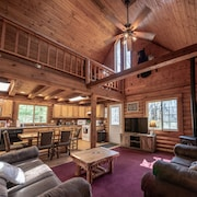 The Peaceful Lazy Bear Lodgeyour own Log Cottage in the Woods10 min From Dells