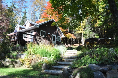 Cozy Cabin in the Woods Bordering on Hiking and Biking Trails