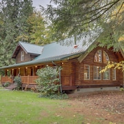 NEW Listing! Riverfront log Home on the Sandy River