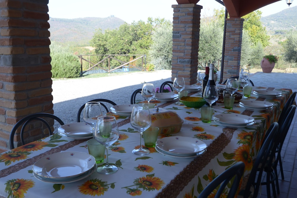Balcony, Villa GLI Olivi 10 Minutes From Panicale Special 2020! Perfect FOR 16 PX