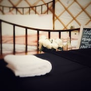 Potters Lodge Luxury Yurt at Peakes Retreats Glampsite, Sleeps 6 With hot tub