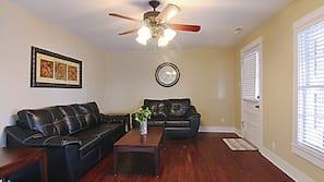 TV, DVD player, stereo