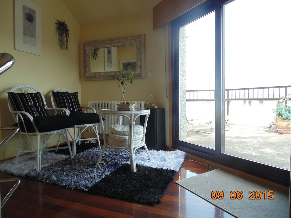 Living Room, Duplex of 180 m2 Large Windows and Stunning Views and Terrace 30 Meters